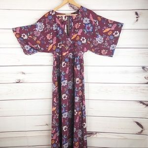 D223 ark & co. Anthro kimono style maxi dress